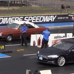 2015 Tesla S P85D vs. 1969 Dodge Dart in a new and funny Drag Race