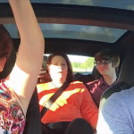 Thanksgiving guests having a shock in the new Tesla Model S P90D with Ludicrous Mode