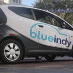 Indianapolis uses the first electric car sharing program in the country called BlueIndy
