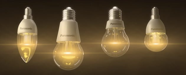 Panasonic LED light bulbs.