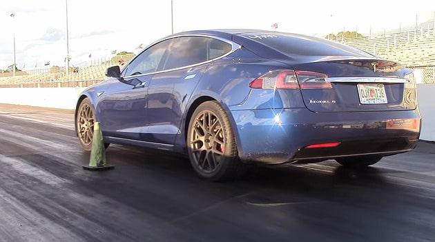 Tesla Model S P100D Ludicrous Plus sets new quarter mile record
