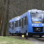 A hydrogen-based train emitting only water