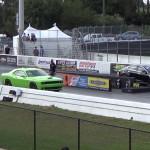 2015 Tesla S P85D vs. 2015 Dodge Challenger Hellcat in a new Drag Race