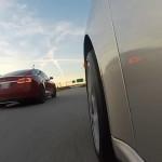 New insane drag races Tesla S P85D vs. Porsche 911 Turbo S vs. Lamborghini Aventador