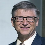 Bill Gates prepares an announcement on the first day of the UN climate summit