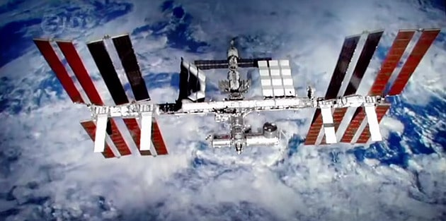 The International Space Station (ISS) uses the largest and most efficient solar panels available.