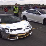 Tesla Model S P100D Humiliates a Lamborghini Aventador LP700 in a New Drag Race