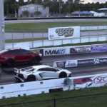 Tesla Model X P100D Ludicrous vs Lamborghini Aventador SV In A New Drag Race