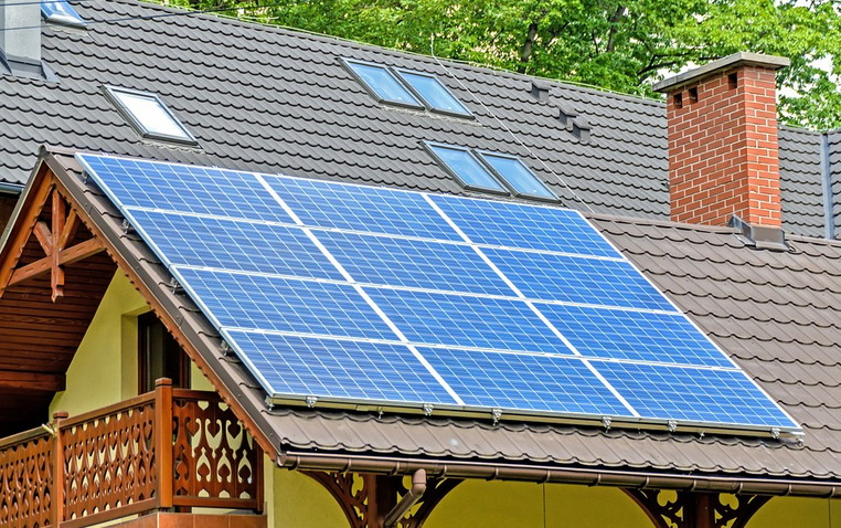 Solar PV system on the roof