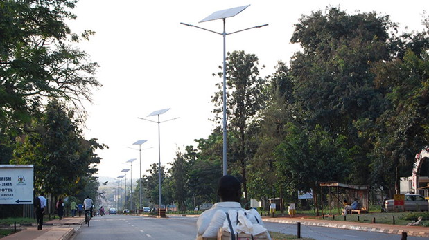 solar street light in Uganda