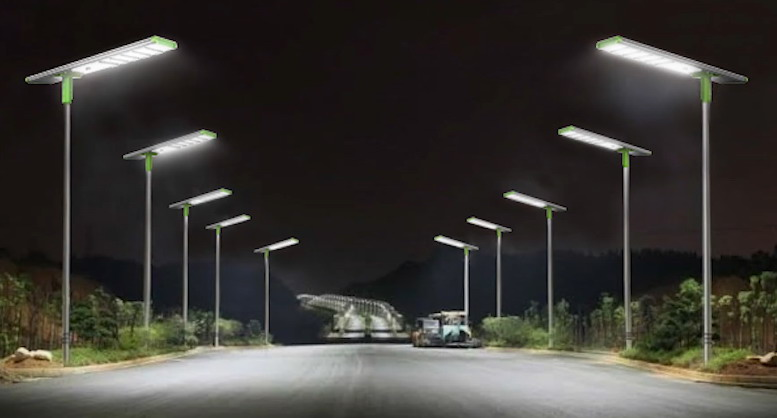 solar street lights in Detroit U.S.
