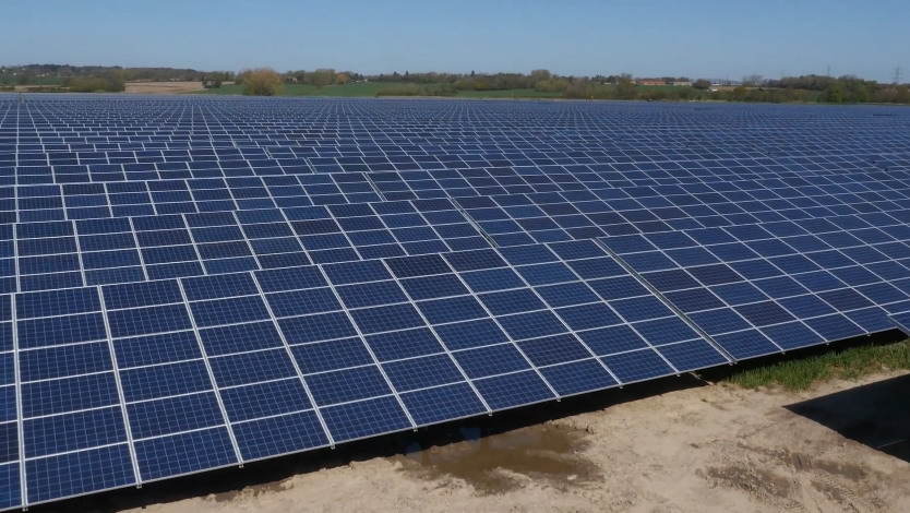 solar farm in the UK